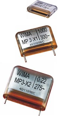 WIMA RFI Capacitors with High Corona Inception Voltage